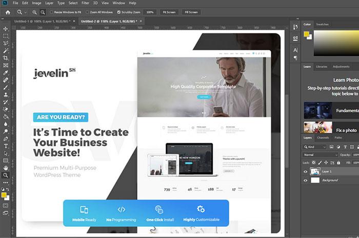 طراحی سایت اختصاصی باpsd