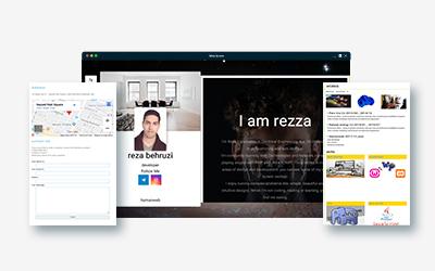 طراحی سایت شخصی بهروزی