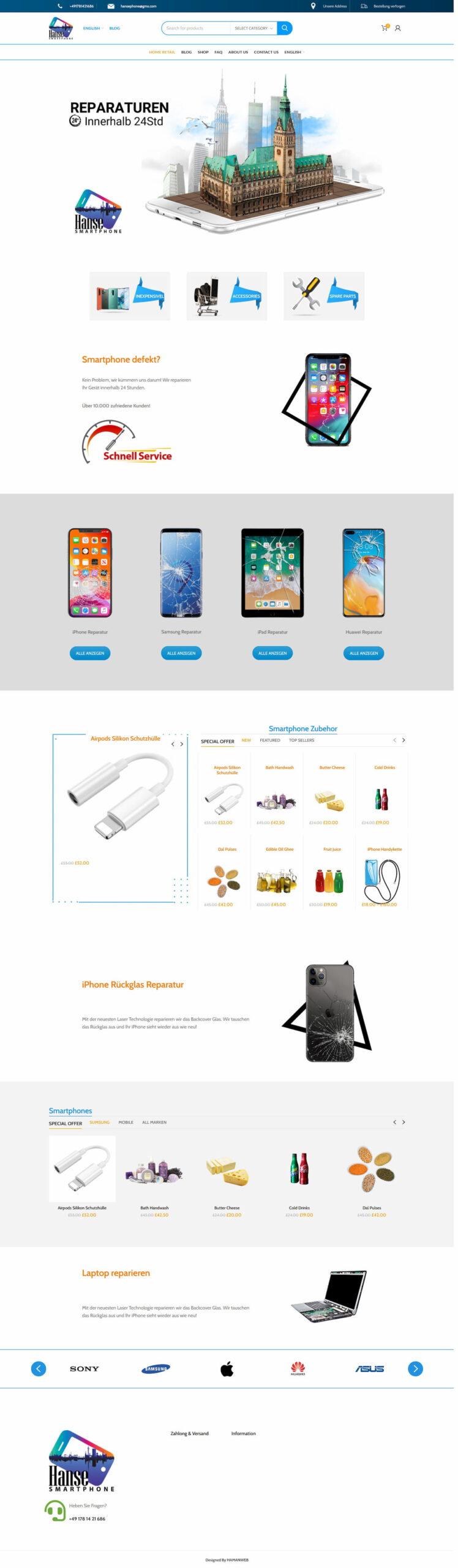 فروشگاه اینترنتی دوزبانه گوشی هوشمند